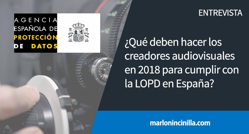 creadores audiovisuales lopd España